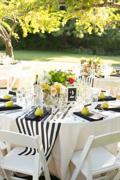 Wedding Tables Wedding Table Runners Black And White Wedding inside size 850 X 1275 Striped Table Runner Wedding - Aside from the type of fabric that you s Lodge Wedding, Wedding Table, Our Wedding, Wedding Receptions, Striped Wedding, Nautical Wedding, Yellow Table, Striped Table Runner, Deco Table