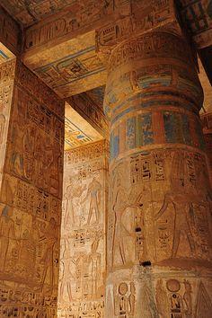 Columns of Medinat Habu Thebes