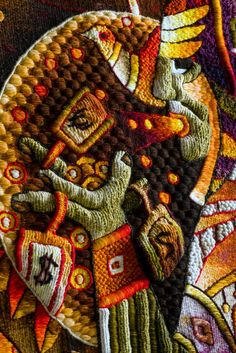 """/// """"Premonition to the wings of freedom and home"""". Handwoven Tapestry Art Maximo Laura"""