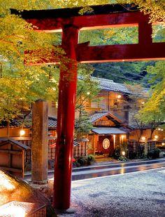 Shinto torii gateway shrine, Kyoto, Japan