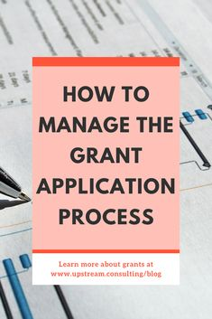 Did you know that writing a grant requires project management skills? The process you use to write grants can make or break your grant proposals! Click through to learn some helpful steps in managing the grant application process. Grant Proposal Writing, Grant Writing, Grant Money, Grant Application, Writing Process, Non Profit, Online Jobs, Project Management, Fundraising Ideas