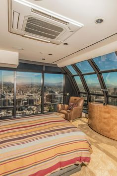 #Bedroom with a #view from a San Diego #penthouse.