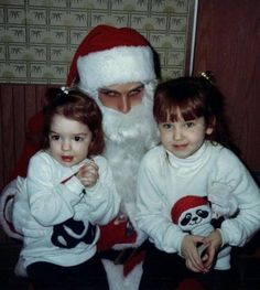 Santa can't wait to get those kids off his lap.