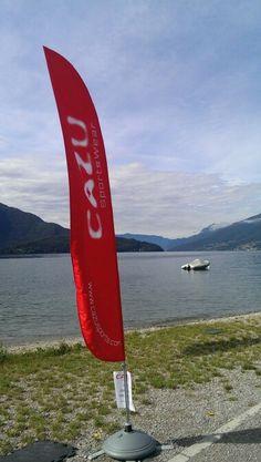 Beachflag at lake como
