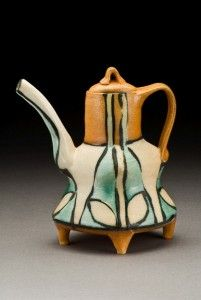 Suze Lindsay's Darted Teapot. Lindsay is one of the 4 presenters at the Potters Council Alteres Approach to Clay Conference, September 13-15, 2013!!