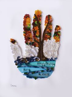 #Wall d'ecor Art Print - Quilling tree of life