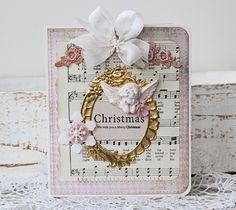 Christmas and PINK!  Lovely card by Tammy Roberts