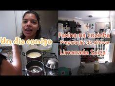 Um dia comigo: faxina na cozinha, preparação de almoço, limonada suiça #...