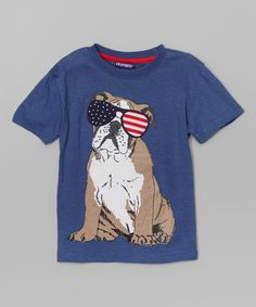 Another great find on #zulily! Indigo American Flag Bull Dog Tee - Infant, Toddler & Boys by CR Sport #zulilyfinds