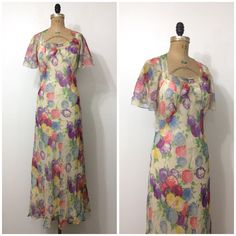 A personal favorite from my Etsy shop https://www.etsy.com/listing/471600298/1930s-floral-chiffon-gown-30s-formal