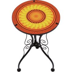 online shopping for Trademark Innovations 22 Sunflower Design Glass & Metal Side Table from top store. See new offer for Trademark Innovations 22 Sunflower Design Glass & Metal Side Table Metal End Tables, Sofa End Tables, End Tables With Storage, Innovation, Offset Patio Umbrella, Patio Side Table, Welcome Home Gifts, Art Deco, Sunflower Design