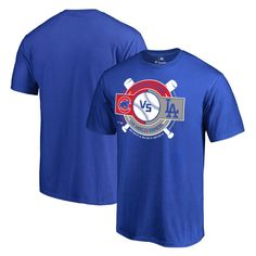 Chicago Cubs vs. Los Angeles Dodgers Fanatics Branded 2017 Opening Series T-Shirt - Royal