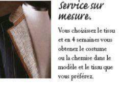 SERVICE sur mesure Service, Shirt, Fabric