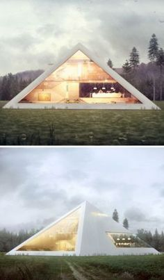 Futuristic Pyramid House Fit for an Ultra-Modern Pharaoh [Futuristic Architecture Architecture Design, Futuristic Architecture, Beautiful Architecture, Futuristic Design, Futuristic Home, Triangular Architecture, Innovative Architecture, Architecture Interiors, Landscape Architecture