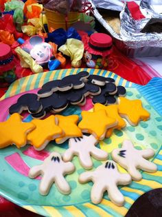 Mickey mouse inspired sugar cookies.