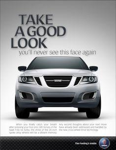 Original Saab Print Advertisement For The Saab 9-4x V6 Turbo Luxury Crossover