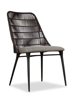 Merveilleux The Agustin Side Chair Is Cast Aluminum With Faux Woven Wicker And An  Upholstered Seat.