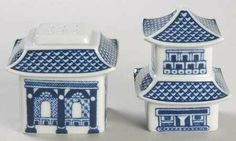 "Johnson Brothers Willow-Blue (""England 1883"" Backstamp) Figurine Salt and Pepper Set, Fine China Dinnerware by Johnson Brothers. $19.99. Johnson Brothers - Johnson Brothers Willow-Blue (""England 1883"" Backstamp) Figurine Salt and Pepper Set - Blue,England 1883 Stamp Only,China"