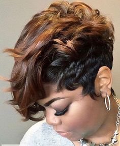 Featuring Hair Inspiration, Stylists and Beauty Promotions… Short Sassy Hair, Short Hair Cuts, Curly Hair Styles, Natural Hair Styles, Pelo Afro, My Hairstyle, Hair Affair, Great Hair, Looks Style