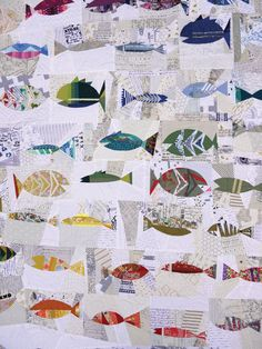 Folksy Fish Quilt Pattern PDF VERSION by sarahsharp on Etsy
