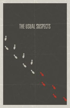 The Usual Suspects (1995) - Minimal Movie Poster by Hunter Langston #minimalmovieposter #alternativemovieposter #hunterlangston