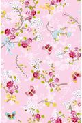 Chinese Rose wallpaper soft green