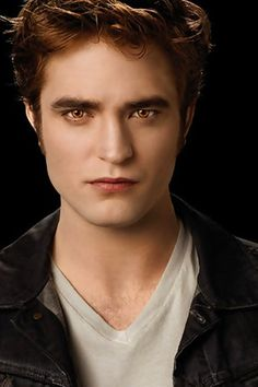 Robert Pattinson as Edward Cullen in the Twilight series.