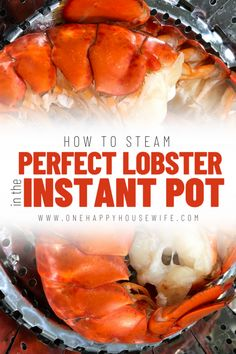 Learn how to use the Instant Pot to get perfectly steamed lobster with the sweetest, tender, and juicy lobster meat. via Learn to cook lobster tail in the Instant Pot and get perfectly steamed lobster with the sweetest, tender, and juicy lobster meat. Lobster Recipes, Fish Recipes, Seafood Recipes, Cooking Recipes, Cooking Games, Cooking Ribs, Cooking Classes, Cooking Chef, Seafood