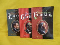 Abeka Sons of Liberty Series, Franklin, Garfield, Lincoln Homeschool or School #TextbookBundleKit