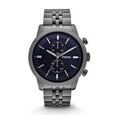 FS4786 - Townsman Chronograph Stainless Steel Watch - Smoke