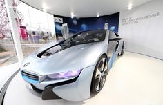 Like futuristic concept cars? Going to the London 2012 Olympics this year? Then you are in luck, BMW will be showing off its i range of concept cars, the Bmw I3, London Olympic Park, Park Pavilion, British Architecture, Bmw Concept, Motorized Bicycle, Hot Cars, Olympics, Automobile
