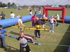 Inflatable Human Foosball is a kind of inflatable arena, divided into sections… Outdoor Yard Games, Outdoor Fun, Backyard Games, Team Building Games, Team Building Events, Buffy, Human Foosball, Family Party Games, Youth Games