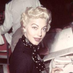 Ava Gardner, blonde, 1950's, pinup