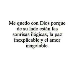 Me quedo con Dios