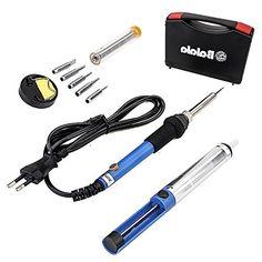 Balala 6-in-1 L�tkolben L�tset 60W 230V Temperatur 200-450�C mit Koffer, 5pcs l�tkolben spitze, L�tkolben pumpe, St�nder mit Schwamm, L�tkolben mit l�tzinn