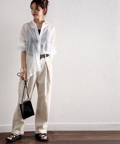 【セール】深めのタックが印象的なウエストタックハイウエストデニム&チノパンツ(デニムパンツ) classicalelf(クラシカルエルフ)のファッション通販 - ZOZOTOWN