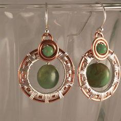 sunburst hoop earring tutorial by wirejoy on jewelrylessons.com - LOVE these!  -mk
