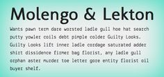 10 Great Google Font Combinations You Can Copy: Molengo & Lekton