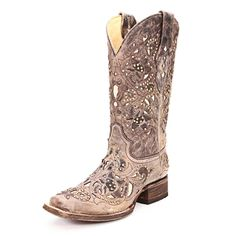 Corral Crater Bone Inlay Cowgirl Boots|All Womens Western Boots