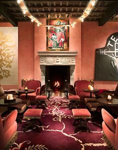 THE ROSE BAR AT GRAMERCY PARK HOTEL -  On those nights when you want to dress up and feel a little fancy, the Rose Bar inside Gramercy Park Hotel is glamorous, while still managing to be laid-back. Oh, and most importantly, it's warm and toasty.  What to order: The Ginger Fig Martini, made with Reyka vodka, muddled ginger root, fig jam and fresh orange juice.