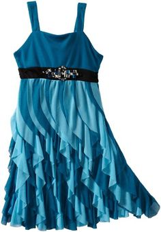 Amazon.com: Bloome Girls 7-16 Waterfall Sleevless Dress: Clothing--  ADORABLE!!