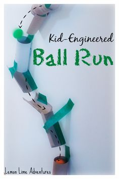DIY Recycled Marble Run: Encourage Engineering, Problem Solving and Physics in young children with this easy boredom buster!