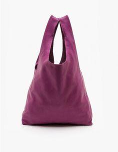 Baggu / Leather Bag in Plum | Need Supply Co
