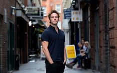 Download wallpapers Sam Claflin, English actor, photoshoot, street, young British celebrities