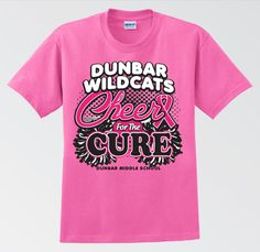 Cheer Shirt Design Ideas cheerleading competition t shirt t shirt cute cheer shirts Dms Wildcats Cheer For The Cure 2012 Tee Mbenjamin Designs