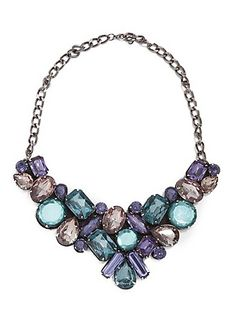 Encrusted Bib Necklace   GUESS.ca