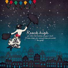 Digital: Reach High  Who doesn't love Mary Poppins?  by Chocochoco