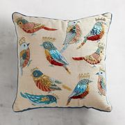 Birds with Crowns Pillow