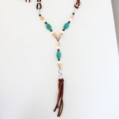 Cognac/Silver/Green Turquoise