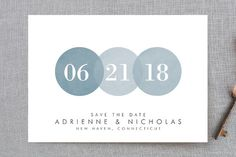 """""""Simply in Love"""" - Simple Save The Date Postcards in Rain by Amanda Sager."""